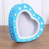 Boîte à chocolat de forme de coeur de qualité avec le guichet de PVC, boîte de empaquetage à chocolat, boîte-cadeau de festival