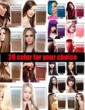 #1b毛の拡張の自然なカラー人間の毛髪テープ