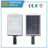 Réverbère solaire Integrated extérieur de 15W DEL avec la conformité de la CE (HFT4-15)