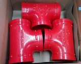 FM/UL Approval Ductile Iron Grooved Tee 139.7mm