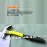 H-128 строительного оборудования наружного зеркала заднего вида ручного инструмента полированным молотком лапу с деревянной ручкой