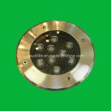 9W Lumière souterrain à LED IP68