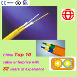 Cable interior 2 núcleo de fibra óptica plana Duplex
