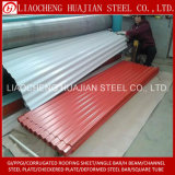 Placa ondulada galvanizada do revestimento de zinco para materiais de construção