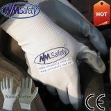 Nmsafety нейлон покрытием ладони Grey Nitrile ремонтная мастерская ручного труда перчатки