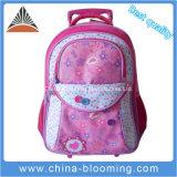 Mädchen-reizende fahrbare Laufkatze zurück zu Schule-Beutel-Rucksack