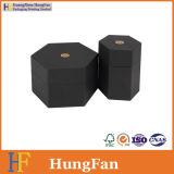 Коробка подарка черного хранения Artpaper Sexangle упаковывая бумажная