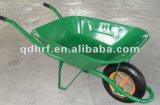 Carro verde Wb6400 da jarda da roda do trole da mão da construção