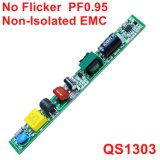 6-20W nessun driver non isolato della lampada della luce intermittente PF0.95 LED con contabilità elettromagnetica QS1303