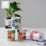 Promotion saisonnière de la Porcelaine tasse de thé/corps blanc / Impression de l'autocollant