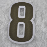 Letras del alfabeto etiqueta tejida con el corte láser para el calzado etiquetas