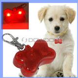 Des Knochen-Form-Haustier-LED grelle Kragen-Leuchte Hundeplakette-der Sicherheits-LED (DT-001)