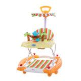 Os melhores presentes do bebê caminhante do bebê de um rolamento de 360 graus com empurrador
