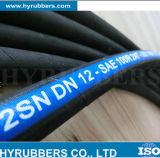 Mangueira de borracha flexível de alta pressão com a mangueira de R2 2sn