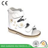 La sandalia de 3 de los colores de la flor del cuero de la sandalia niños de la estabilidad embroma la sandalia ortopédica