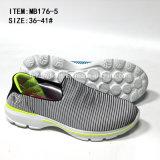 La plus défunte piste de Slip-on de femmes de prix bas de mode folâtre les chaussures occasionnelles (MB176-6)