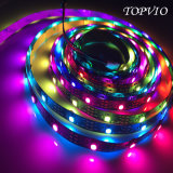Direccional programable DC5V 5050 Pixel RGB LED tira flexible