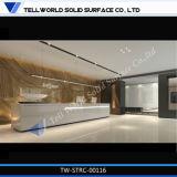 Tw Corian acrylique Long Hall/hôtel/Bureau Bureau de réception