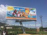 En el exterior de doble cara Unipole Prisma Triple Vinilo Tri-Vision Media Cartelera de anuncios