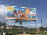 Al aire libre Pole Prisma Triple Tri-Vision Anuncios Media Billboard