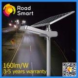 160lm/W Waterproof a luz de rua da energia da potência solar com Pólo