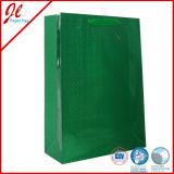Saco de presente de papel de qualidade premium Saco de compras de papel revestido liso com papel Kraft com impressão em cores