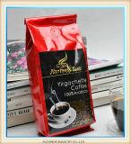 Plastik- und transparenter Kaffee-Paket-Beutel/schwarzer mit ReißverschlussKaffeebohne-Beutel