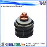 Изолированный XLPE гофрированный Al и PE оболочку в продольном направлении водостойкий кабель питания высокого напряжения