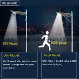 12W haute lumière LED de qualité Rue lumière solaire avec l'induction