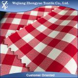 Tessuto dell'uniforme scolastico del reticolo del Tartan di stirata dello Spandex del poliestere del cotone