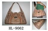 L'ÉPAULE Snakeskin Handbag (HL) 9062
