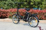 Mini vélo électrique se pliant d'Ebike de 20 pouces avec le noir sans frottoir d'aide de moteur