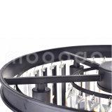 Lampadario a bracci rotondo del grande prisma di vetro libero di lusso moderno per il salone