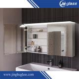 Установленный стеной белый шкаф зеркала ванной комнаты MDF