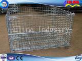 頑丈なスタック可能鋼線の網パレットケージ/記憶のケージ(FLM-K-006)