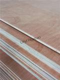 colagem combinada classe do núcleo E1 da madeira compensada BB/CC de 9mm Okoume