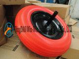 3.50-8 Rodas de carrinho de rodas PU Rodas de trole com eixo sólido 20X240mm