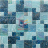 Goldzeile Regenbogen-Farben-Kristallswimmingpool-Glasmosaik für Pool (CSJ103)