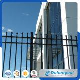 Decoración moderna duradera valla de hierro forjado.