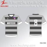 Healong最新のデザインスポーツ・ウェアによって個人化される昇華印刷の人のTシャツ