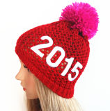 Sélectionner les chapeaux acryliques de Beanie de tendance de manchette de sport barrés par jacquard vide (S-1059)