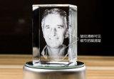 Máquina de gravura de substrato de cristal cristalino 3D para vidro, cubo de cristal
