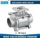 3PC Válvula de bola de soldadura con la norma ISO211 Plataforma alta
