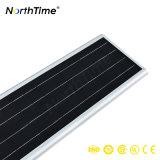 Automatico-Rilevamento dell'indicatore luminoso di via solare esterno Integrated del sensore di movimento della batteria di potere 40W LED