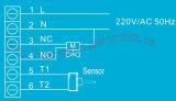 Montaje en la pared piso de la sala de calefacción Termostatos (MT-10-F)