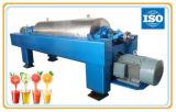 Centrifugadora horizontal de la jarra para la purificación del jugo y la deshidratación de la fibra de la fruta