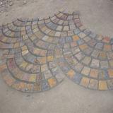 De natuurlijke Chinese Veelkleurige Straatsteen van Ourdoors van de Lei (smc-R052)
