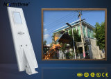 3-4m 4 luz ao ar livre solar Integrated chuvosa do tempo de descarga 15W dos dias