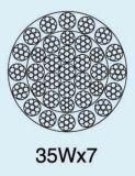 Corda de fio de aço galvanizada não de giro com muitas camadas 35wx7