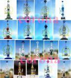 T15 de la corona de reciclador de tabaco de vidrio de color de alto el tazón de artesanía de vidrio Tubos de vidrio de Cenicero mini embriagador 1Vaso de vidrio de la burbuja de agua